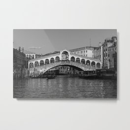 Rialto Bridge, Venice Metal Print