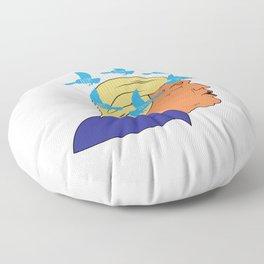 Harbinger of Doom Floor Pillow
