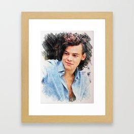 Harry Styles, One Direction, 1D, 1dFanArt Framed Art Print