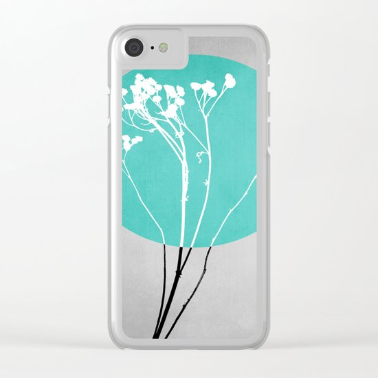 Abstract Flowers 1 Clear iPhone Case