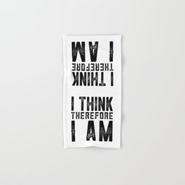 I think therefore I am - on white Hand & Bath Towel