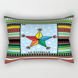Christmas Loteria La Estrella Rectangular Pillow