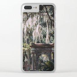 Bonaventure Cemetery, Savannah, Georgia Clear iPhone Case