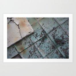 Turquoise Tiles Art Print