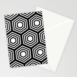Monochrome Hex Stationery Cards