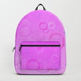 Colorful bubbles on a pink background. Backpack
