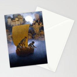 Maxfield Parrish Wynken, Blynken and Nod Stationery Cards