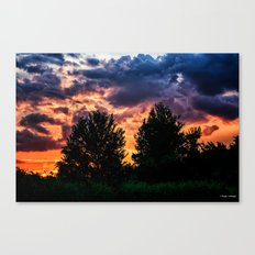 Dry Day Sunset Canvas Print