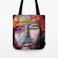 mirror Tote Bags featuring mirror by Irmak Akcadogan