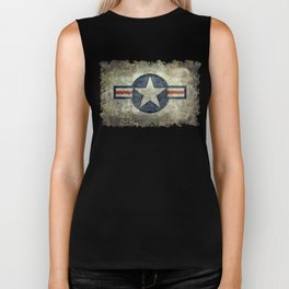 US Air force style insignia V2 Biker Tank