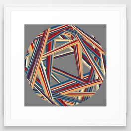 Bars and Stripes Framed Art Print