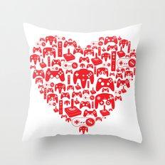Gaming Love Throw Pillow