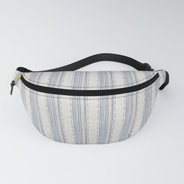 Seamless french farmhouse woven linen stripe texture.  Fanny Pack