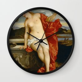 "Titian (Tiziano Vecelli) ""Sacred and Profane Love"" (2), 1515-1516 Wall Clock"