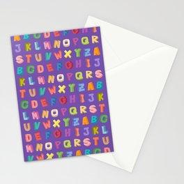 Alphabet pattern Stationery Cards