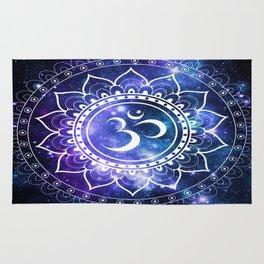 Om Mandala: Violet & Teal Galaxy Rug