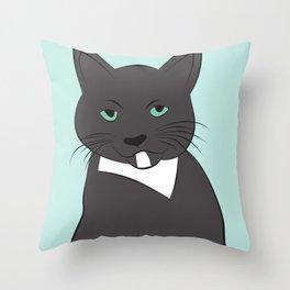 Meow, meow. Throw Pillow