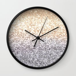 Champagne and Gray Glitter Ombre Wall Clock