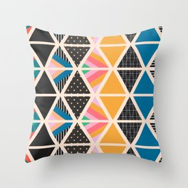 Triangle collage Throw Pillow