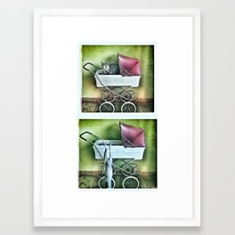 Driving her new car Framed Art Print