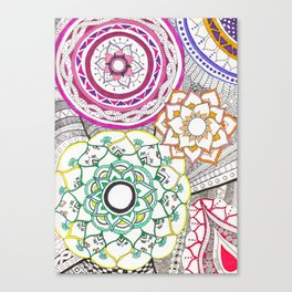 carnival of colors Canvas Print