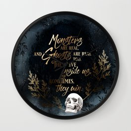 S King - Ghosts & Monsters Wall Clock