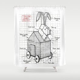 Trojan plan Shower Curtain