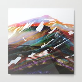 Abstract Mountains II Metal Print