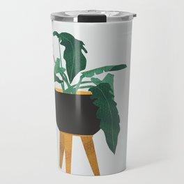 mid century modern house plant boho pot stand Travel Mug