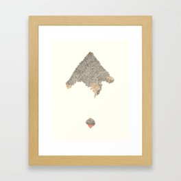 2 Mountains Framed Art Print