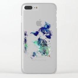 World Map splash raf Clear iPhone Case