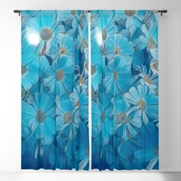 abstract daisy in bloom in spring Blackout Curtain