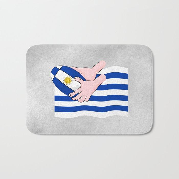 Uruguay Rugby Flag Bath Mat