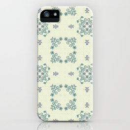Spring Flower Daisy Wheel Seamless Pattern iPhone Case