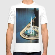 The Fountain at The Point MEDIUM White Mens Fitted Tee