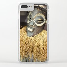 African Mask #2 Clear iPhone Case