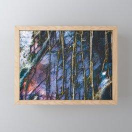 Snowy Forest Night Framed Mini Art Print