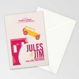 Jules et Jim, François Truffaut, minimal movie Poster, Jeanne Moreau, french film, nouvelle vague Stationery Cards