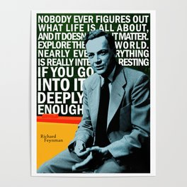 Richard Feynman Quote 1 Poster