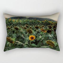 Lone Sunflower Mountain Rectangular Pillow
