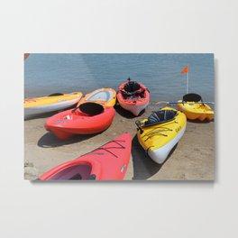 Kayaks - M Metal Print