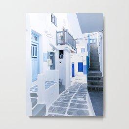 222. From Greece with Love, Mykonos, Greece Metal Print