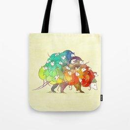 Opossum Rainbow Babies Tote Bag