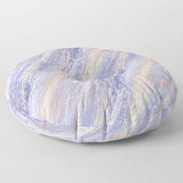 Messy Abstract Blue and Beige Paint Strokes Floor Pillow
