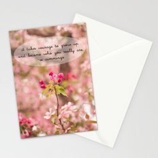 courage in growth - ee cummings Stationery Cards