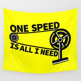 Single Speed Bike Wall Tapestry