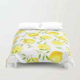 Lemons and leaves Duvet Cover