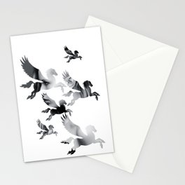 Facing Pegasus Stationery Cards