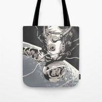 gravity Tote Bags featuring Gravity by Señor Salme
