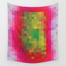Digital Patchwork: Fuchsia Wall Tapestry